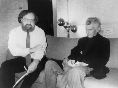 Director John L. Reilly and Samuel Beckett